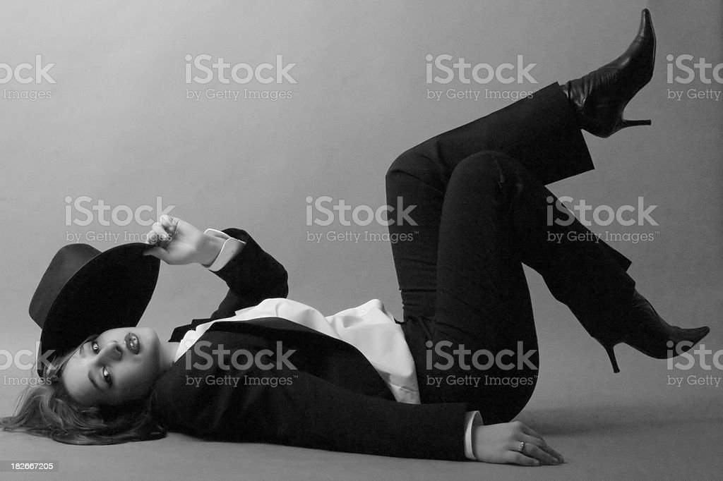 Suit chick stock photo