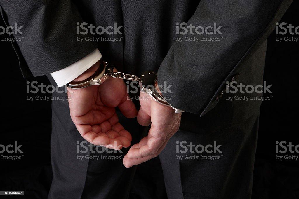 Suit cuffed stock photo