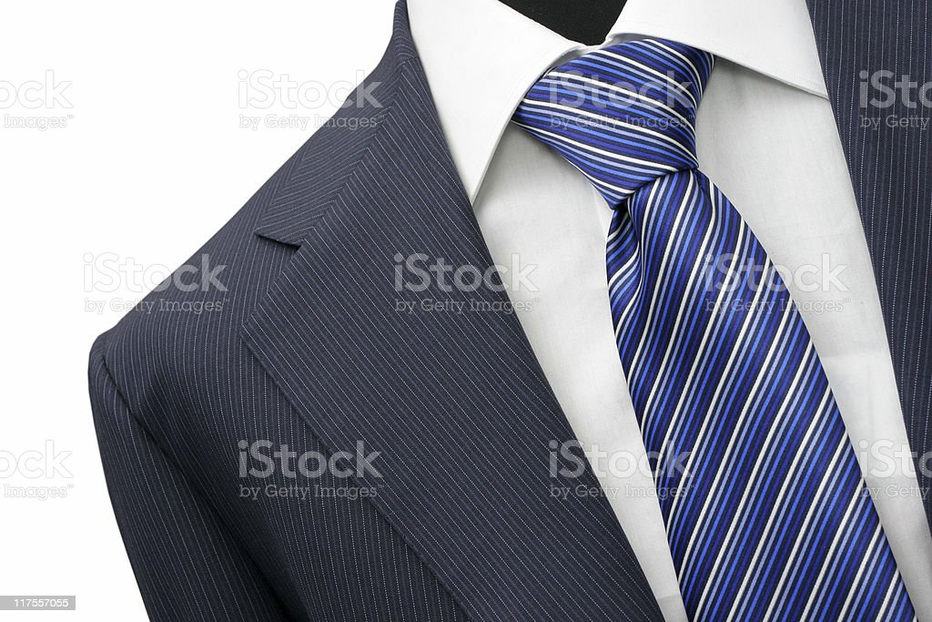 Suit detail on shop mannequins isolated royalty-free stock photo