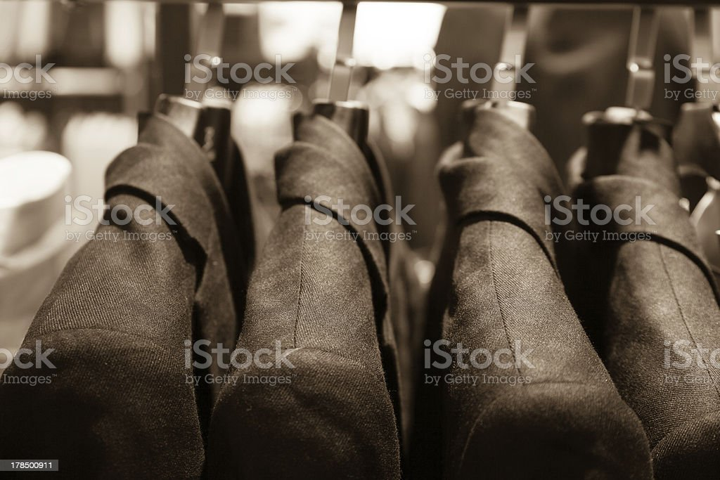 Suit hanger royalty-free stock photo