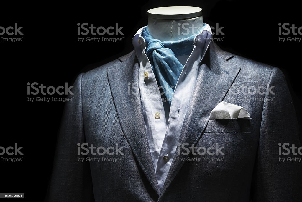 suit in store stock photo