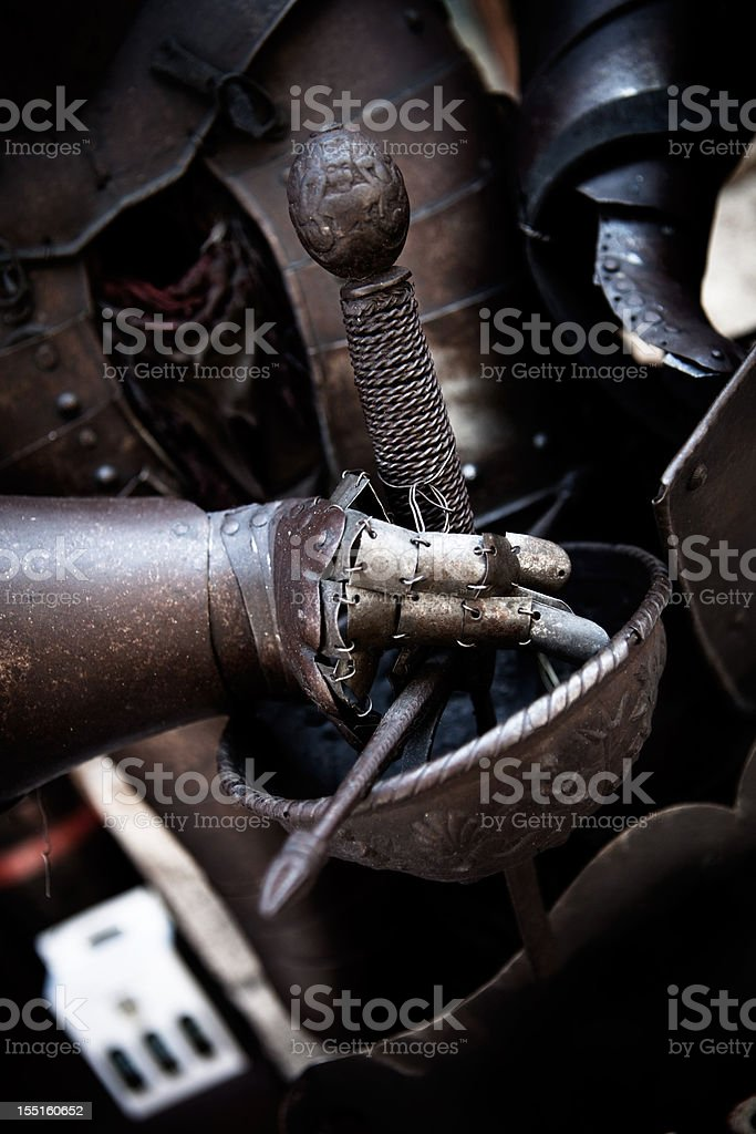 suit of armor detail royalty-free stock photo