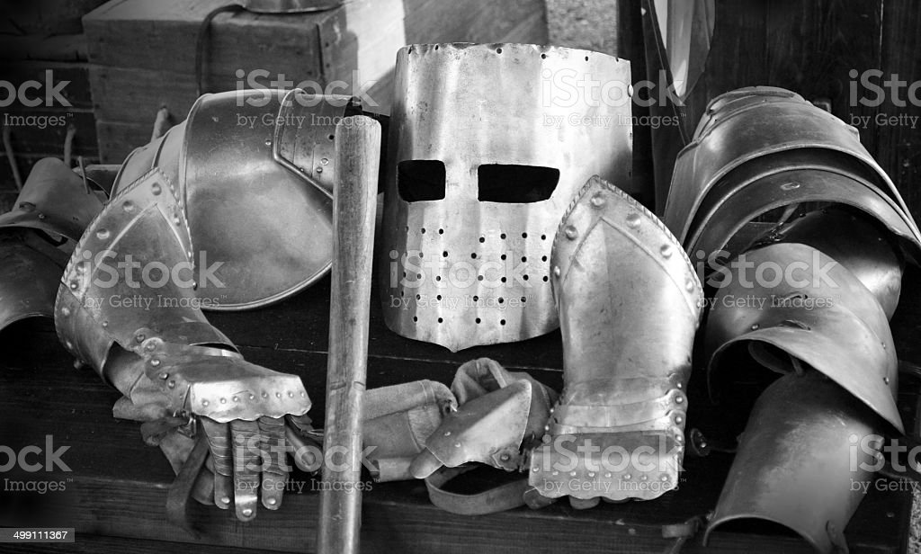 Suit of armour stock photo
