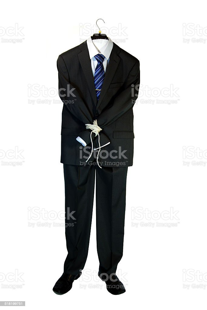 Suit of office manager stock photo