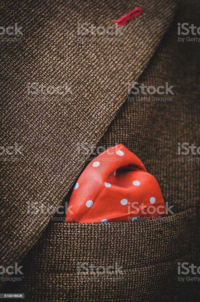 Suit pocket square stock photo