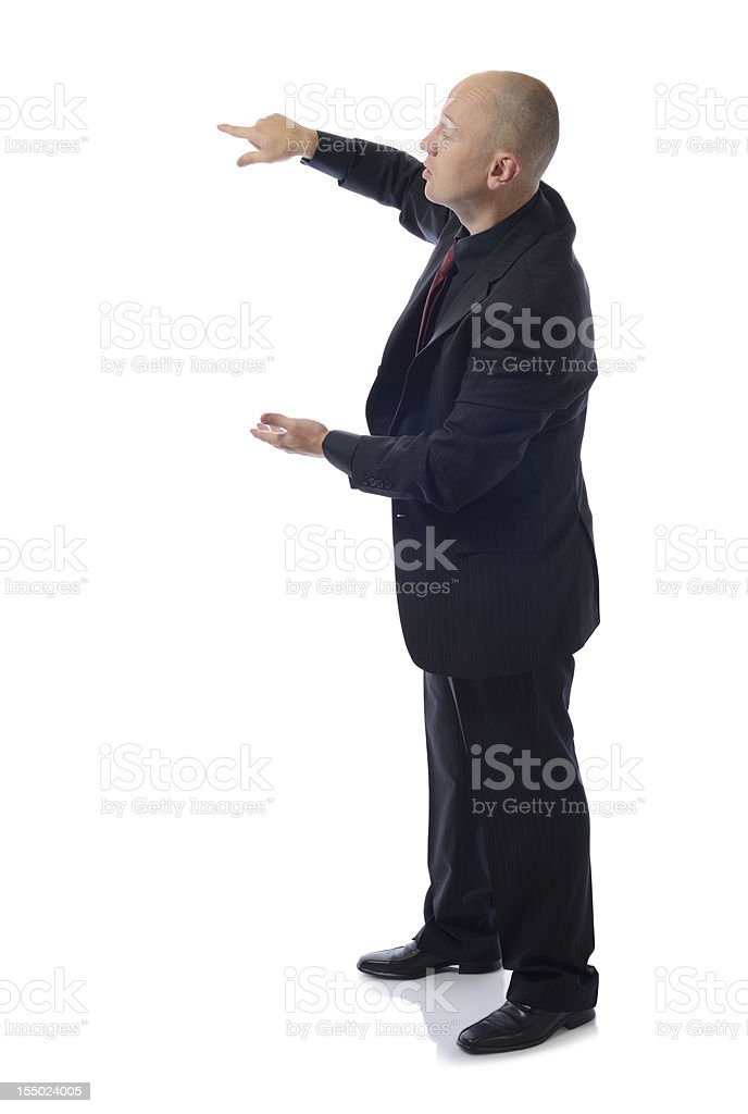 suit presenting royalty-free stock photo