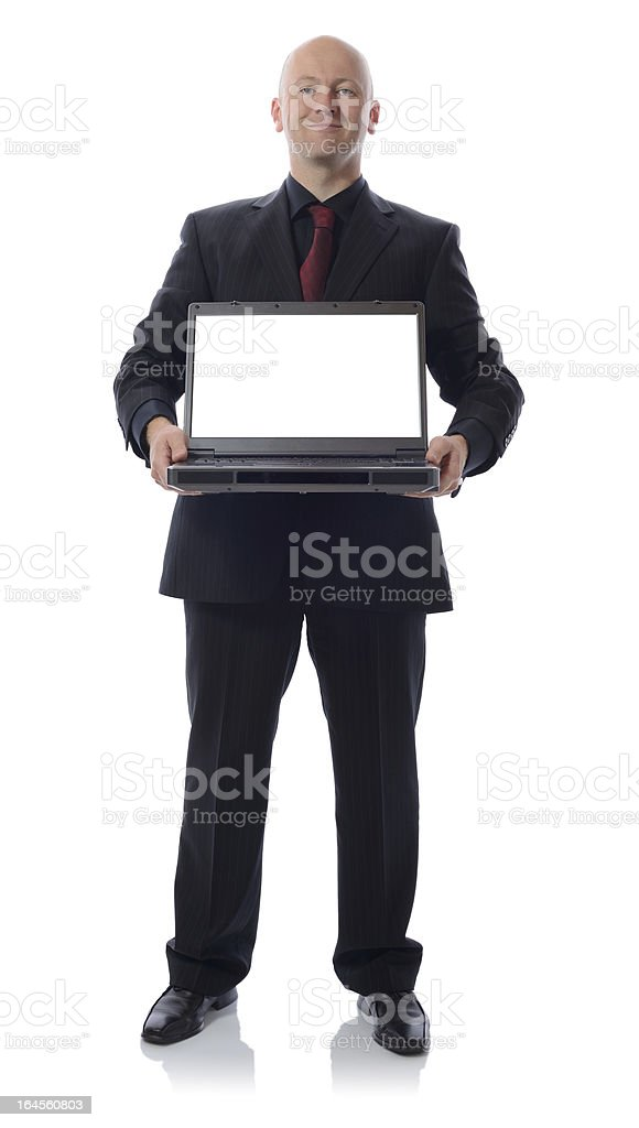 suit with laptop royalty-free stock photo