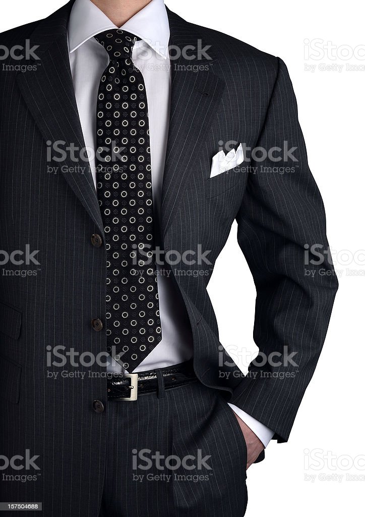 suit with shirt and necktie royalty-free stock photo