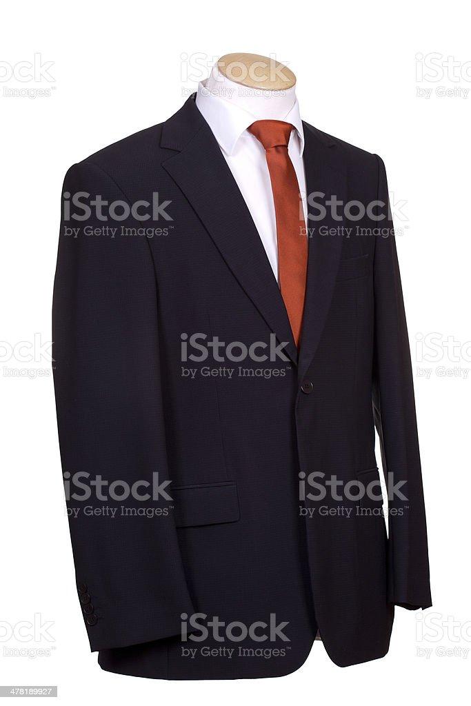 suit with tie stock photo