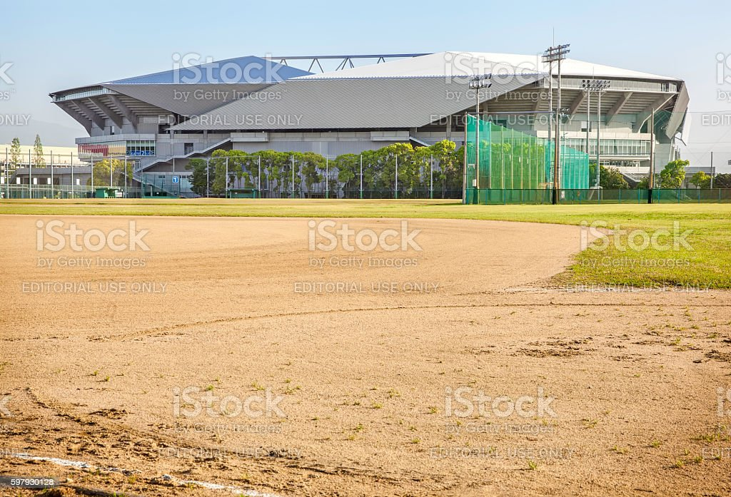 Suita City Football Stadium and sports ground stock photo
