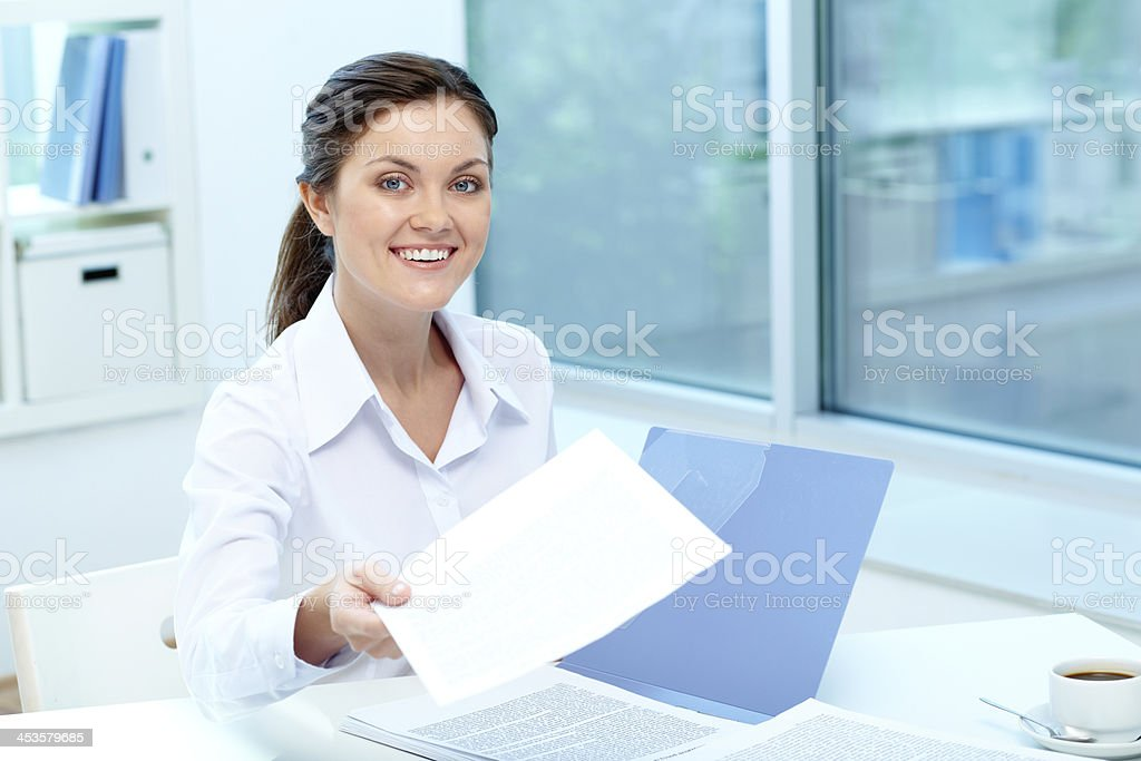 Suitable candidate royalty-free stock photo