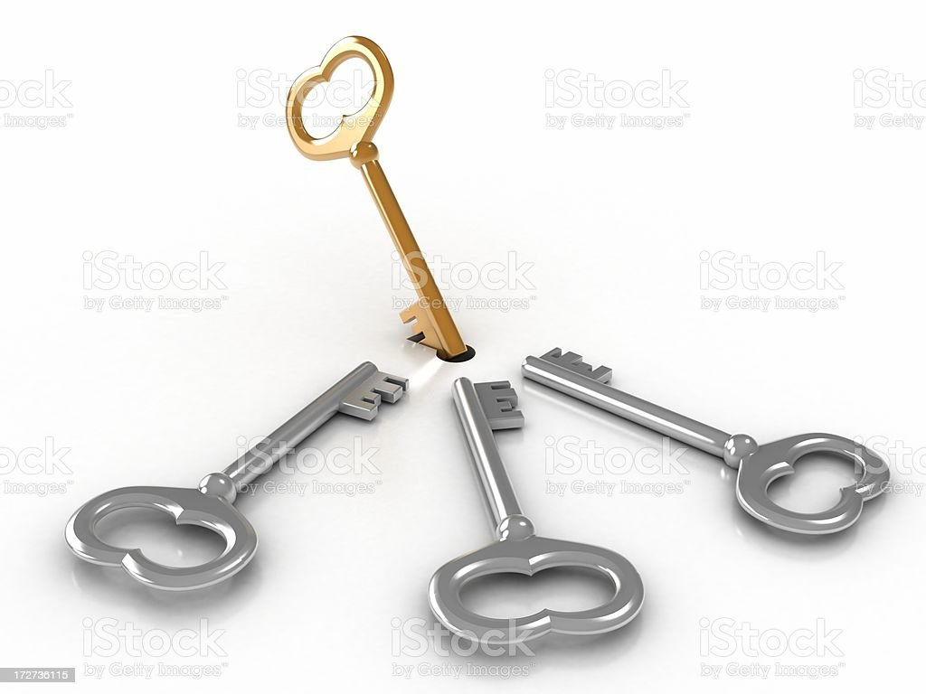 Suitable key royalty-free stock photo