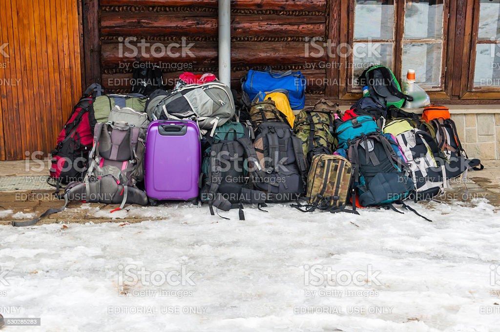 Suitcase and Rucksacks stock photo