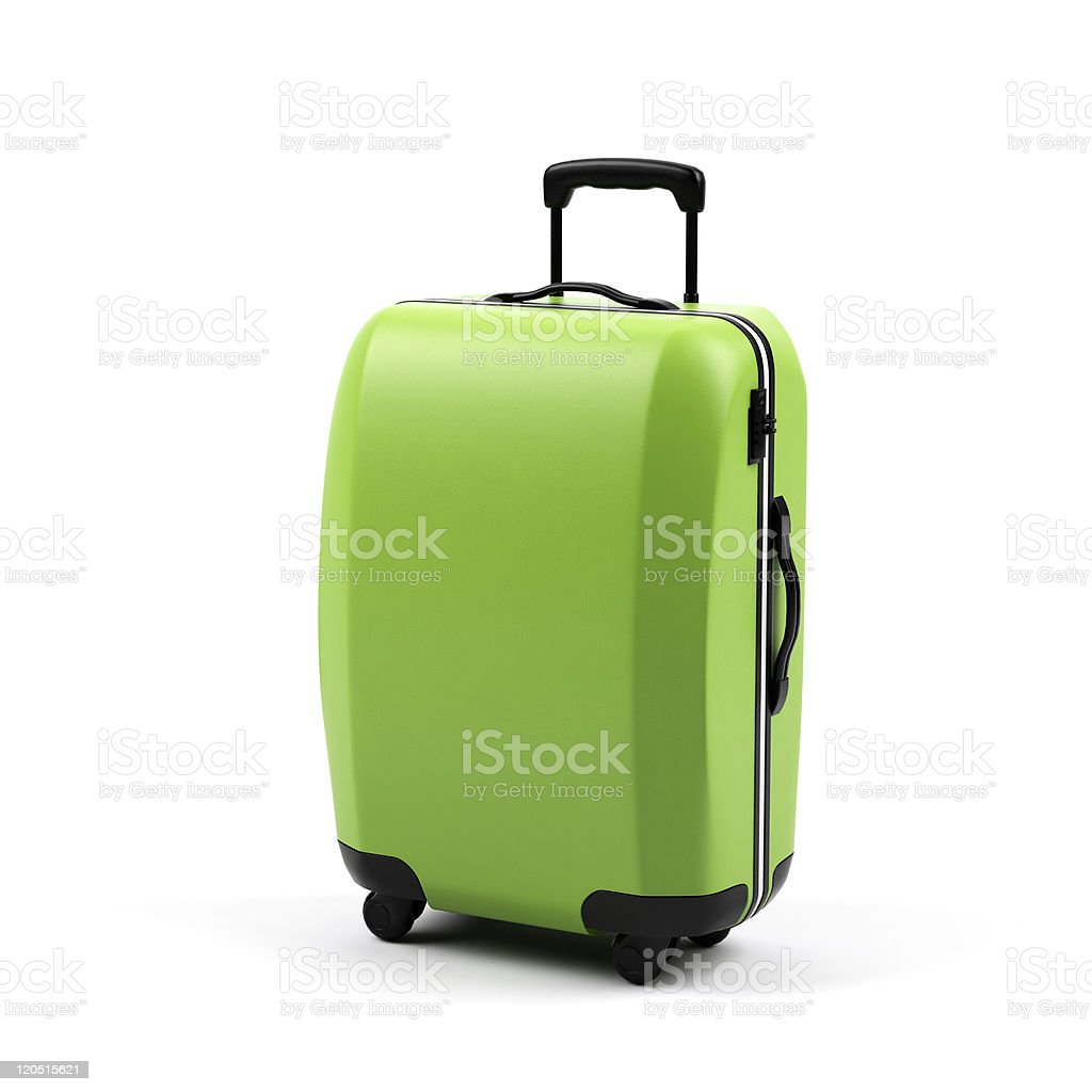 Suitcase isolated on a white background. stock photo