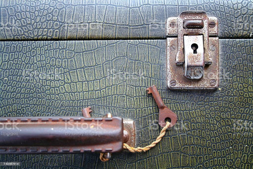 Suitcase Lock Landscape royalty-free stock photo