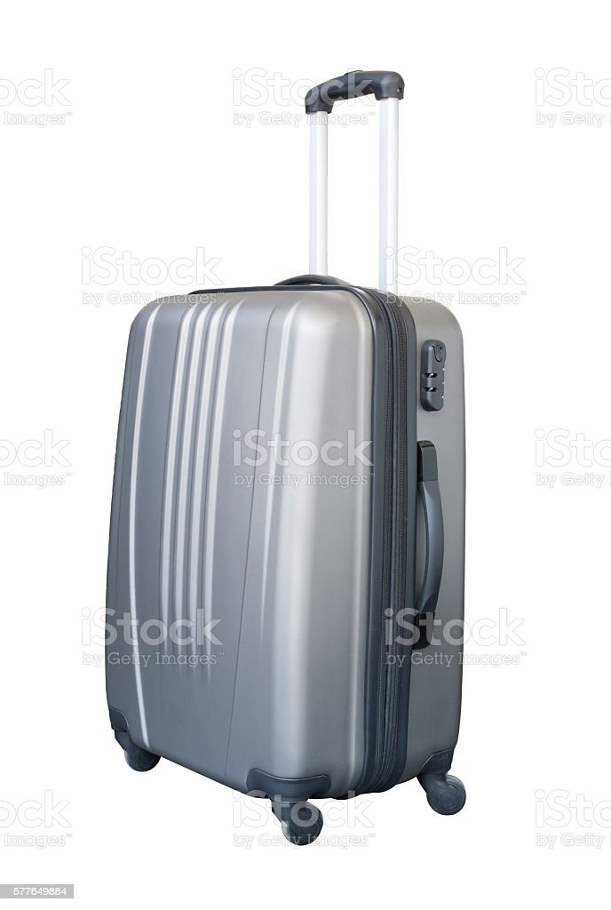 suitcase luggage travel isolated stock photo