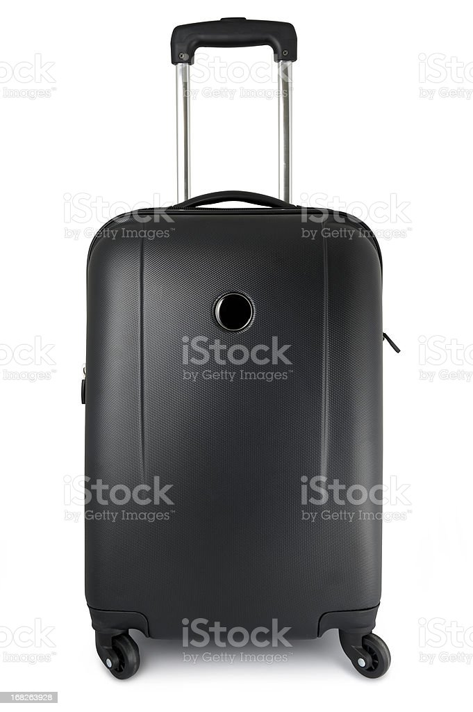 Suitcase on wheels stock photo