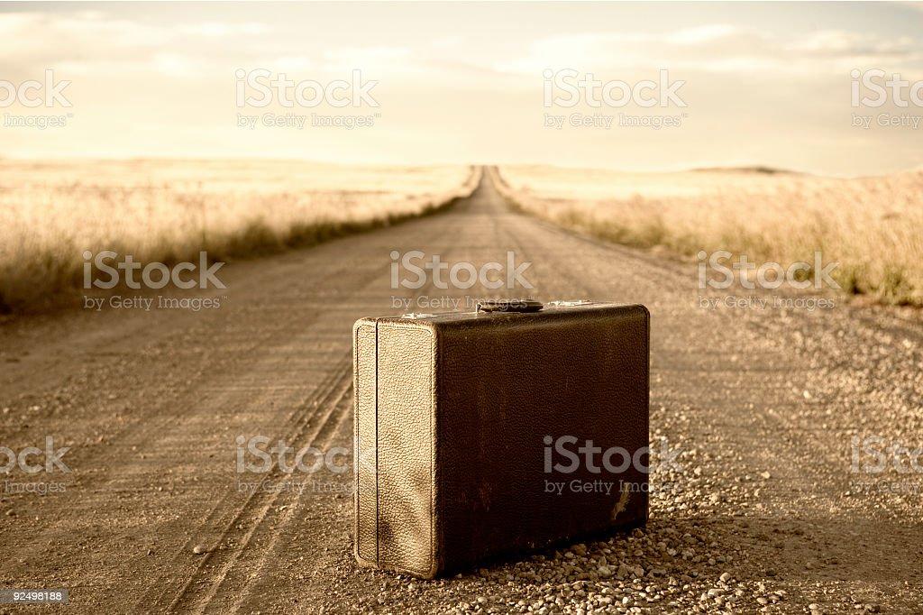 Suitcase / Sepia stock photo