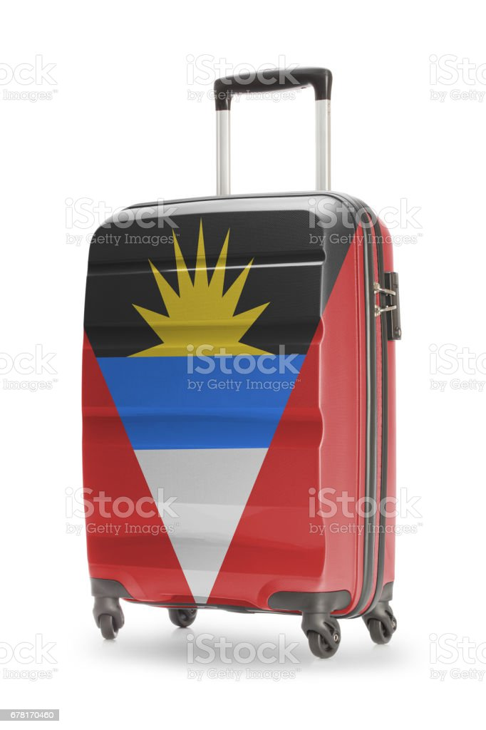 Suitcase with national flag on it - Antigua and Barbuda stock photo