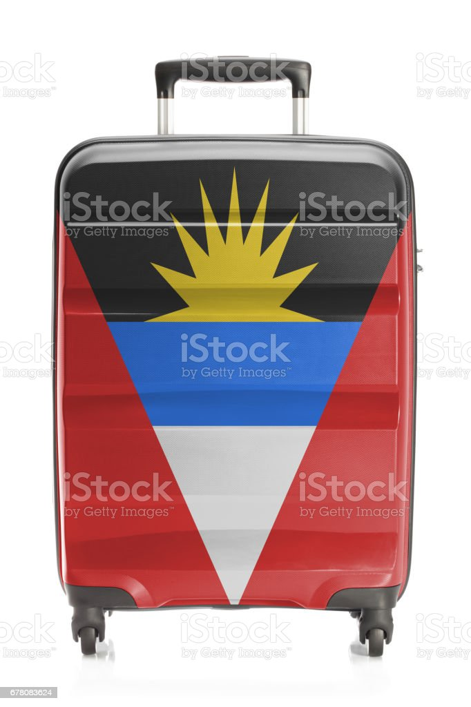 Suitcase with national flag series - Antigua and Barbuda stock photo