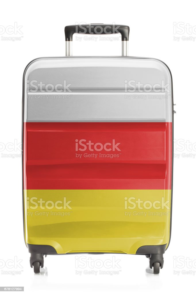 Suitcase with national flag series - South Ossetia stock photo