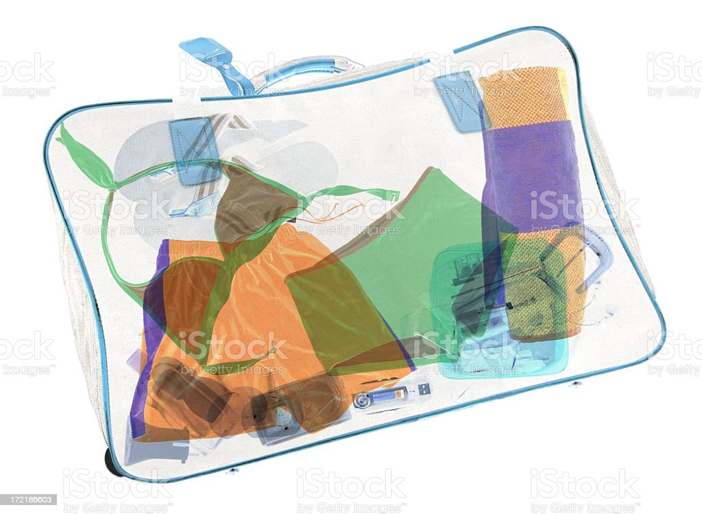 Suitcase X-ray royalty-free stock photo