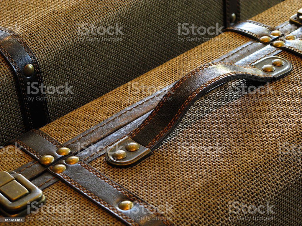 Suitcases Baggage Travel Vintage Close Up stock photo