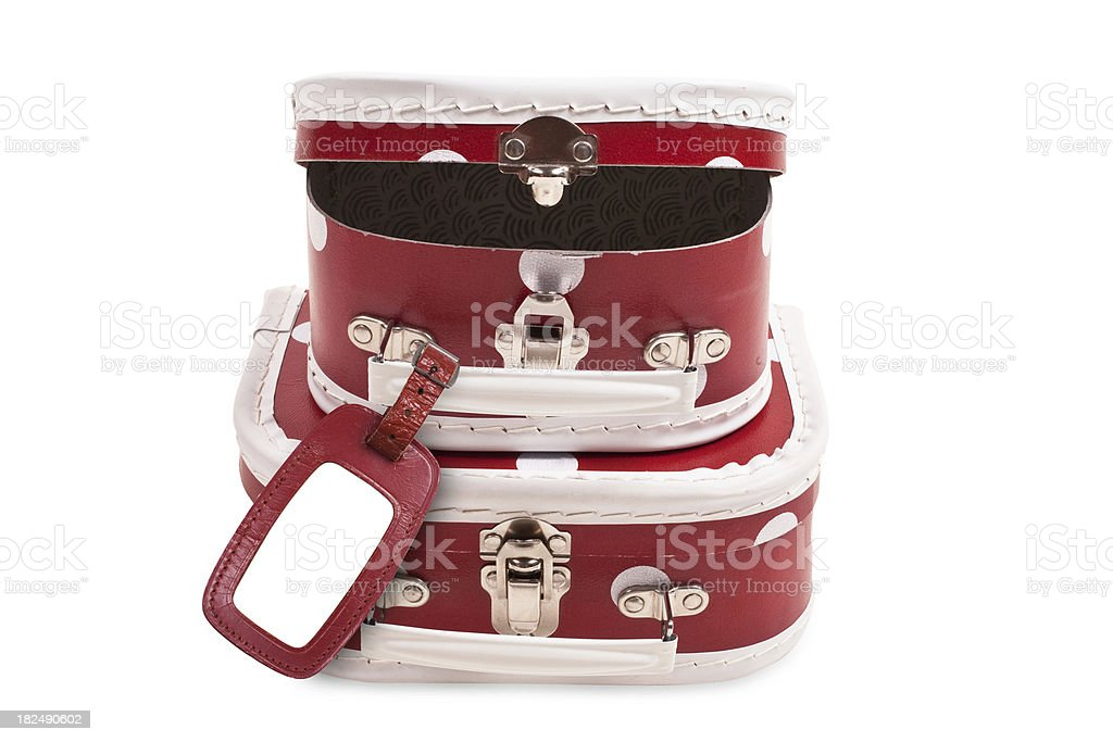 Suitcases With Luggage Tag royalty-free stock photo
