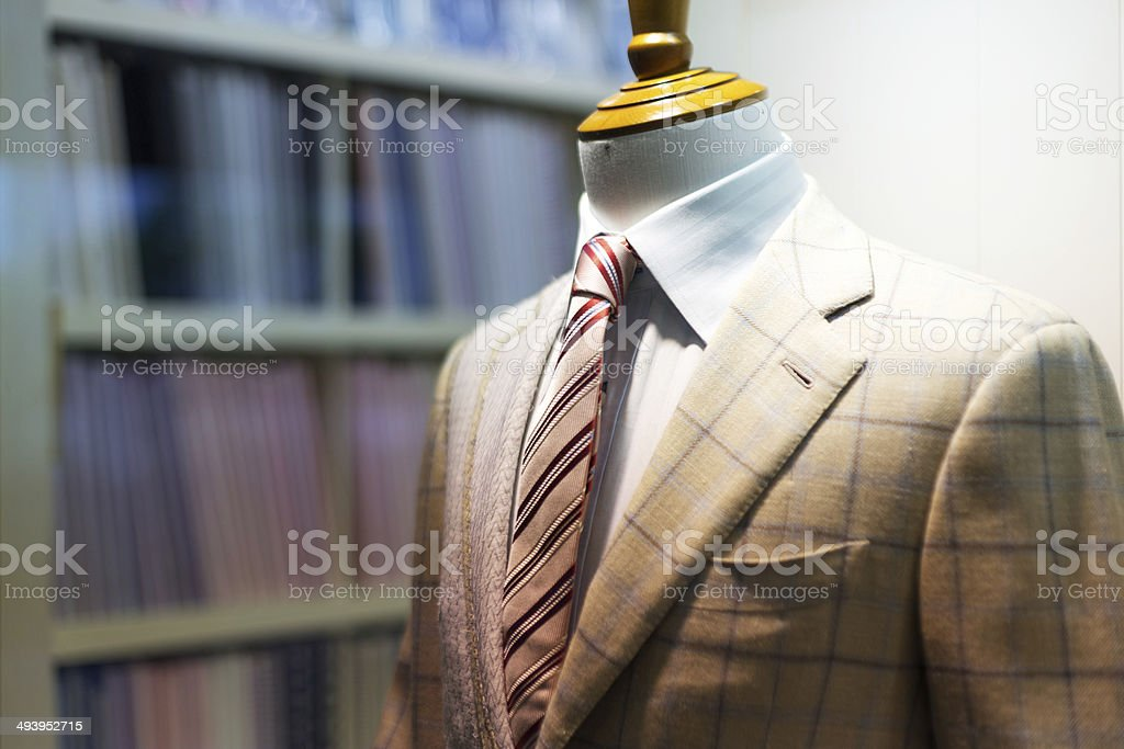Suite on the mannequin stock photo