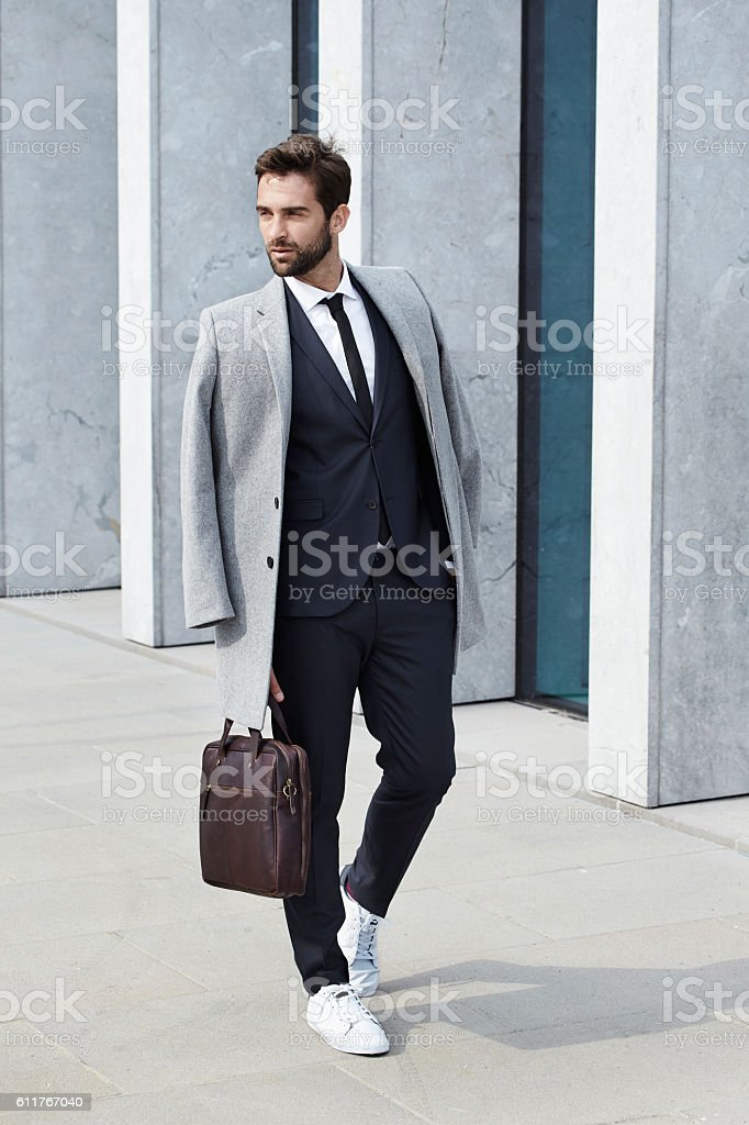 Suited and booted stock photo