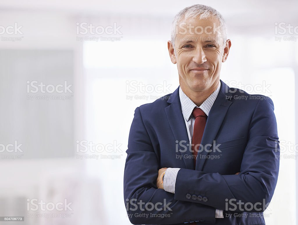 Suiting up for success stock photo