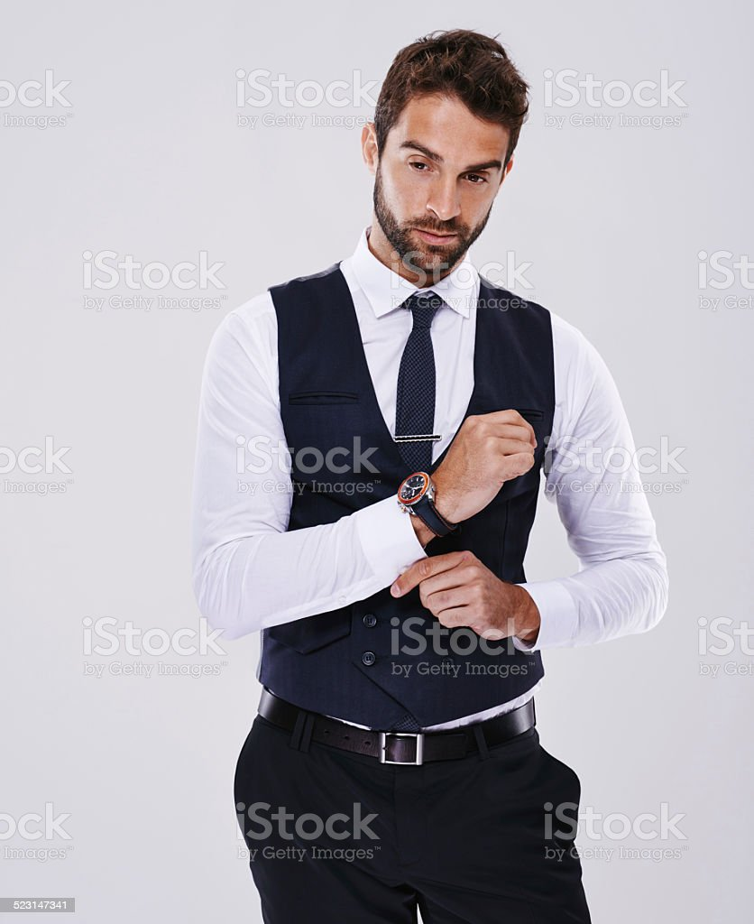 Suiting up stock photo