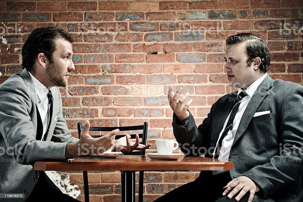 suits, coffee and conversation royalty-free stock photo