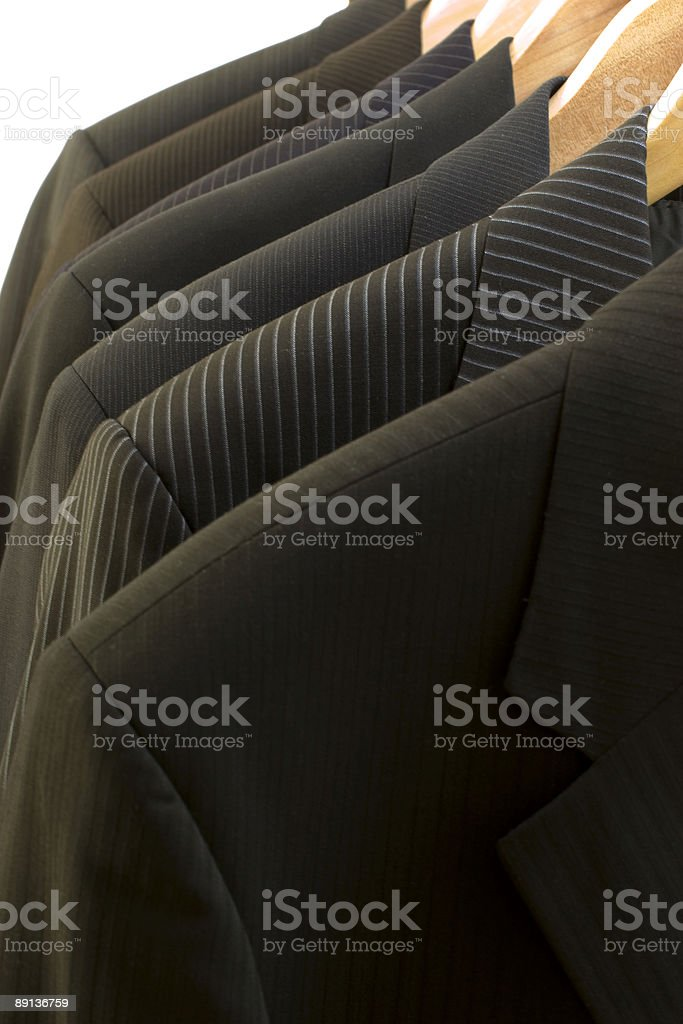 Suits in close up royalty-free stock photo