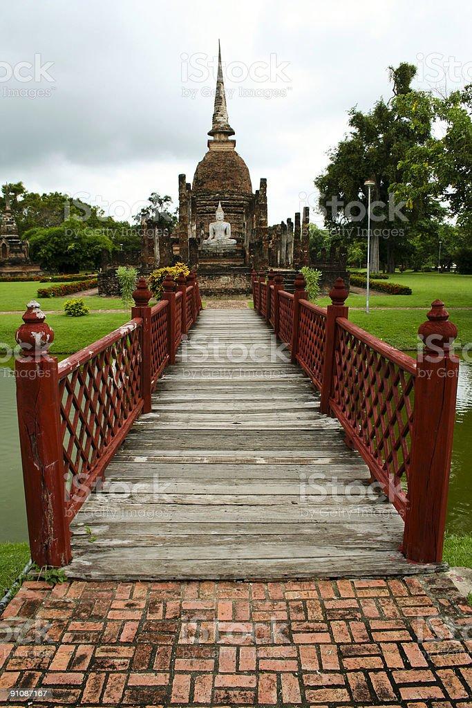 sukhothai bridge buddha thailand royalty-free stock photo