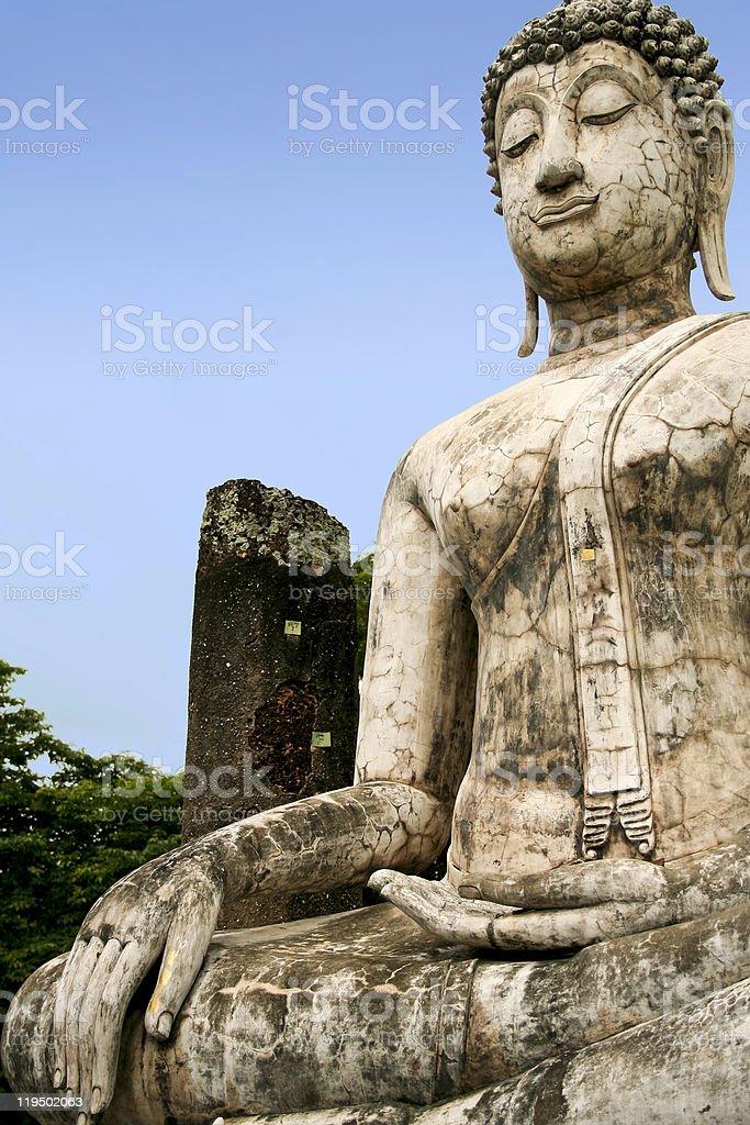 sukhothai buddha temple ruins thailand royalty-free stock photo