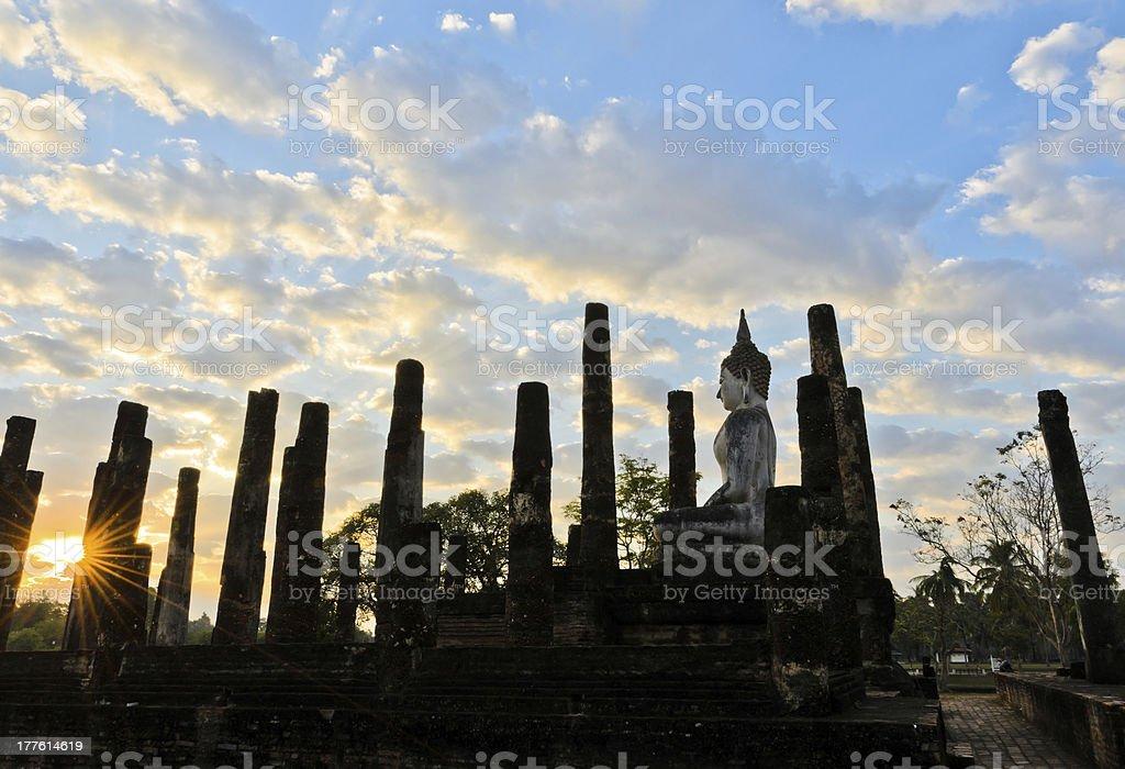 Sukhothai Historical Park at sunrise royalty-free stock photo