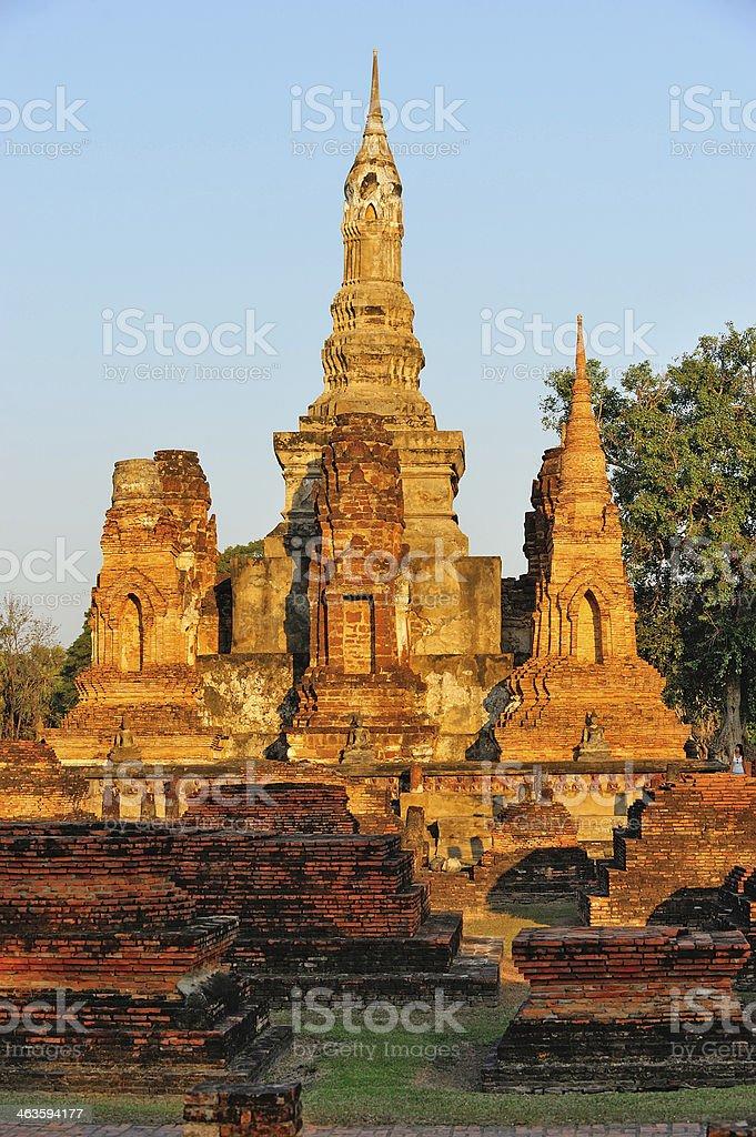 Sukhothai Historical Park, former capital city of Thailand stock photo
