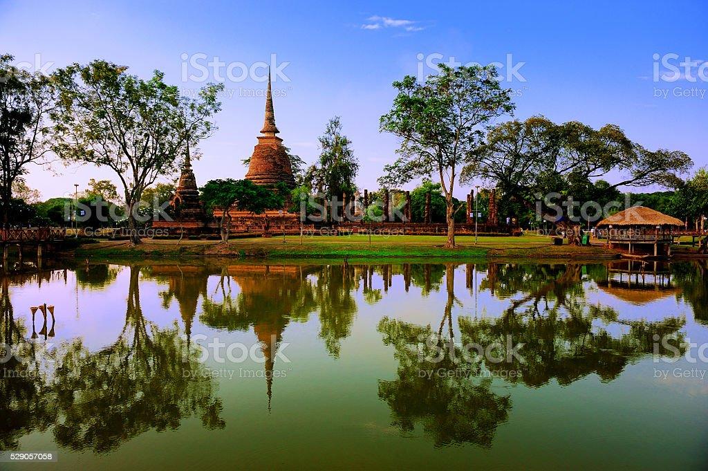Sukhothai Historical Park, Sukhothai (Thailand) stock photo