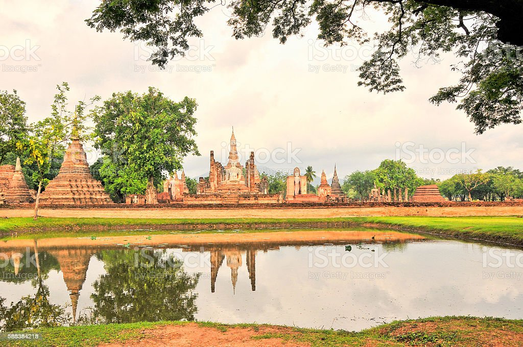 Sukhothai Historical Park, Sukhothai town,Thailand stock photo