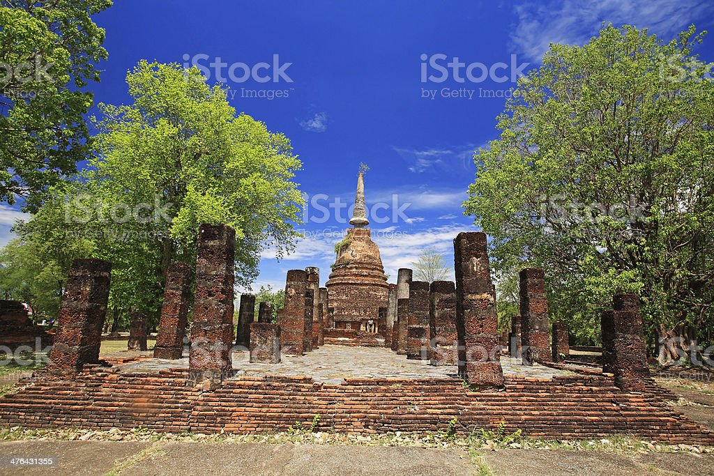 Sukhothai landmark, Wat Chang Lom royalty-free stock photo