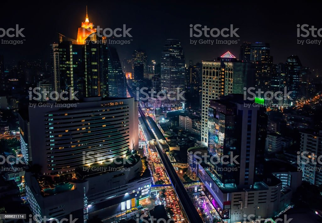Sukhumvit road in Bangkok stock photo