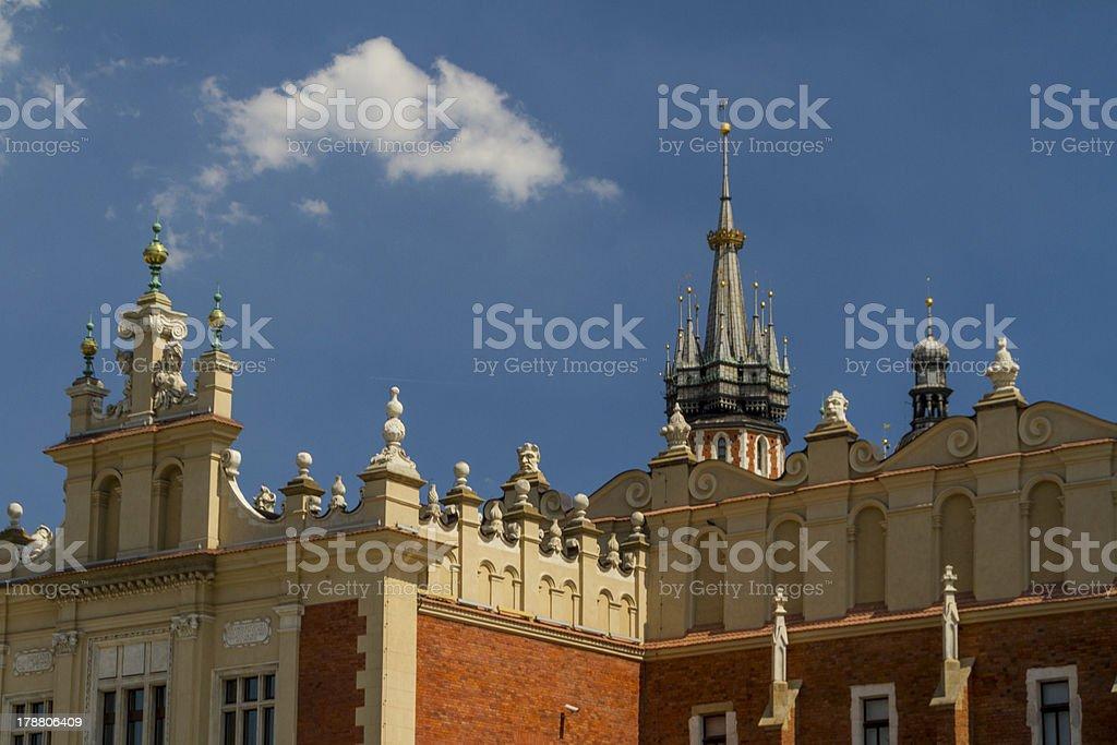 Sukiennice building in Krakow, Poland stock photo