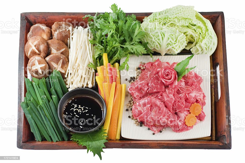 Sukiyaki Ingredients stock photo