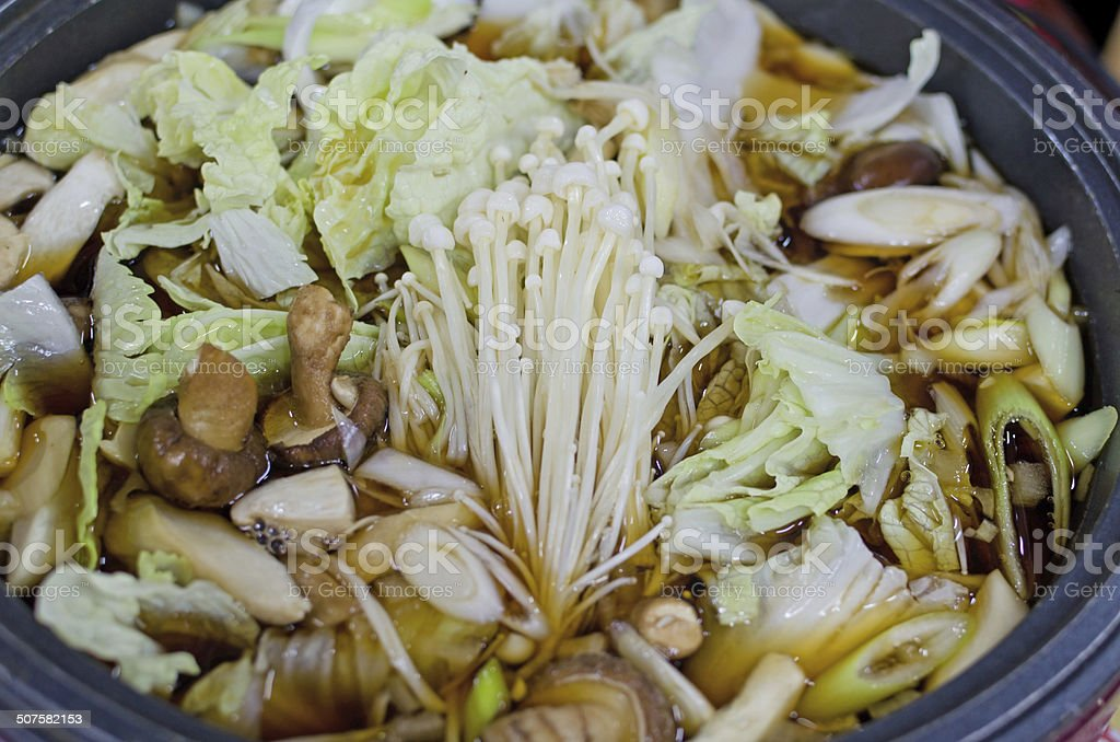 sukiyaki japanese food stock photo