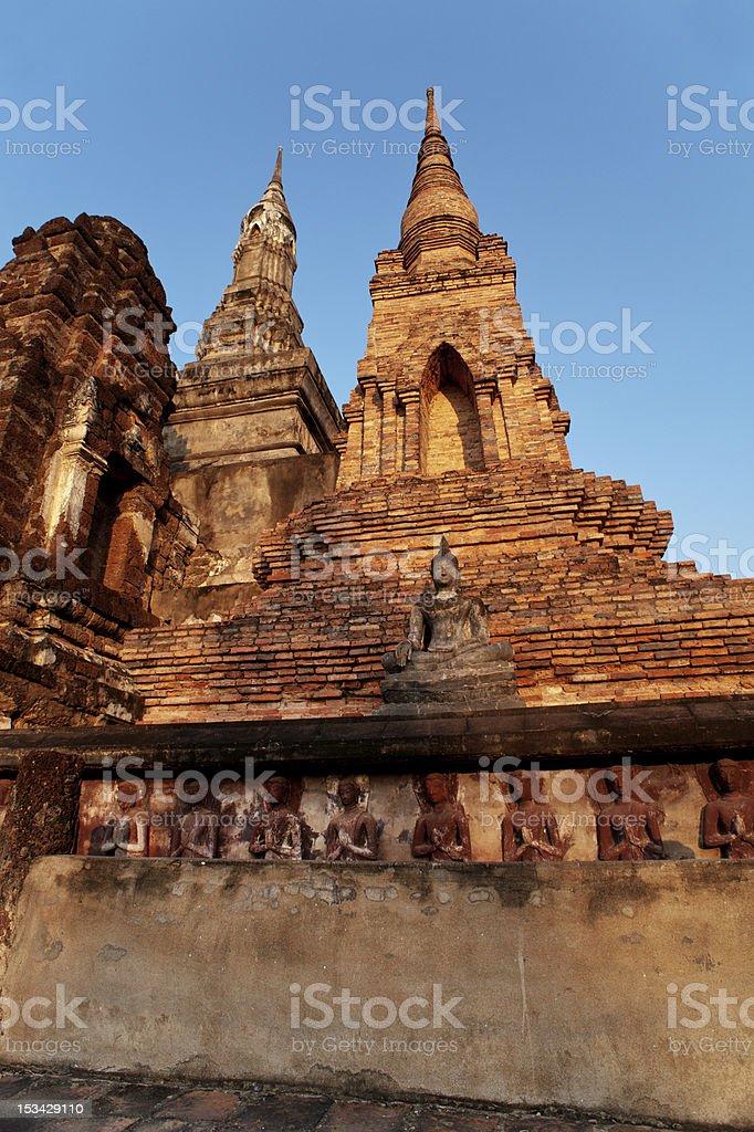 Sukothai Historic UNESCO World Heritage Site Ruins stock photo