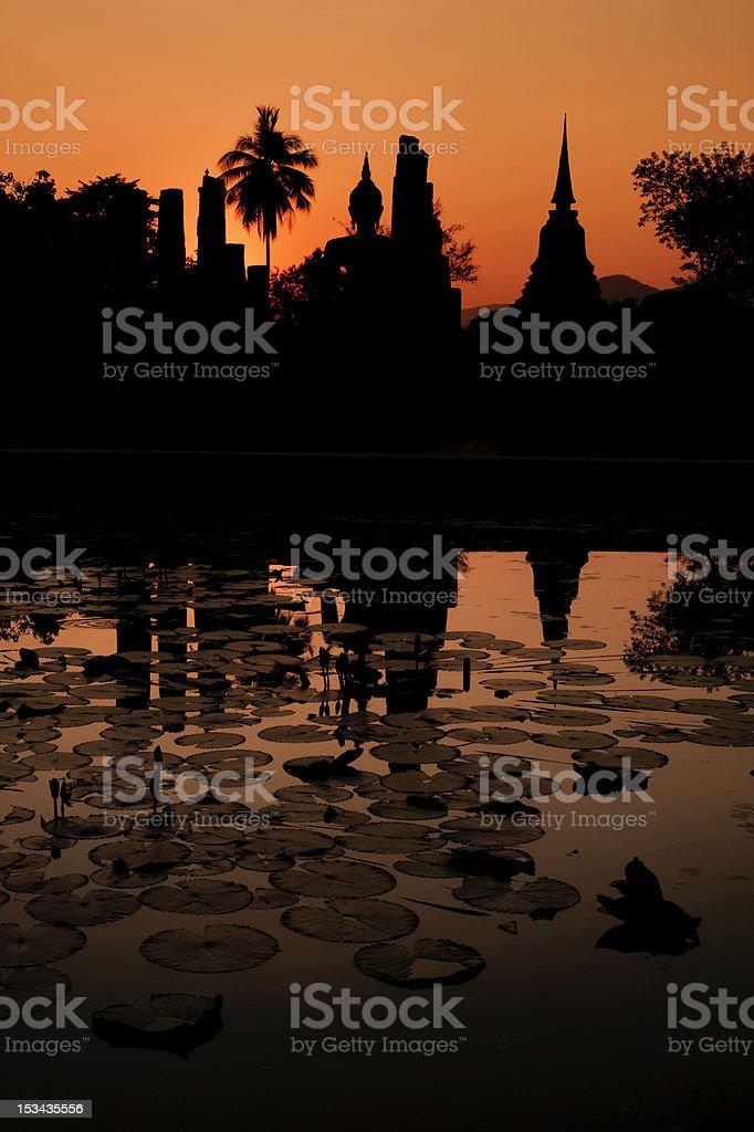 Sukothai Sunset stock photo