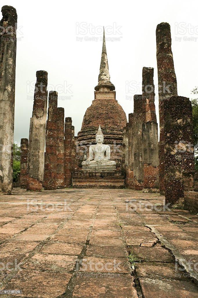sukothai temple ruins royalty-free stock photo