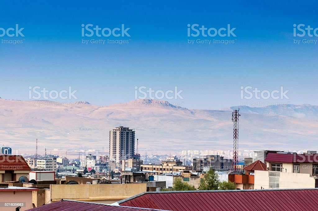 Sulaymaniyah and Zagros Mountains stock photo