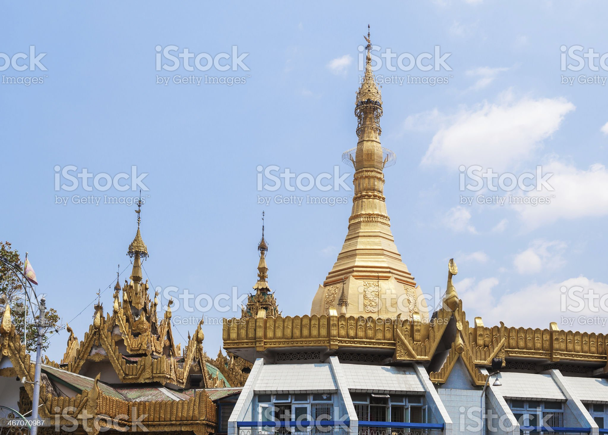 Sule pagoda in Yangon, Burma (Myanmar) royalty-free stock photo